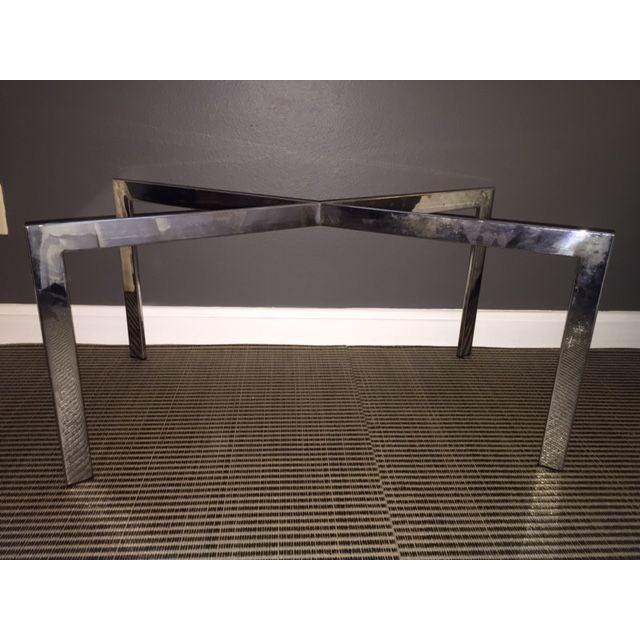 Milo Baughman Style X Base Coffee Table Chairish