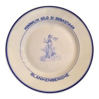 Blankenberghe Amsterdam Gild Plate Blue & White