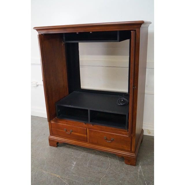 Lexington traditional cherry wood tv armoire cabinet