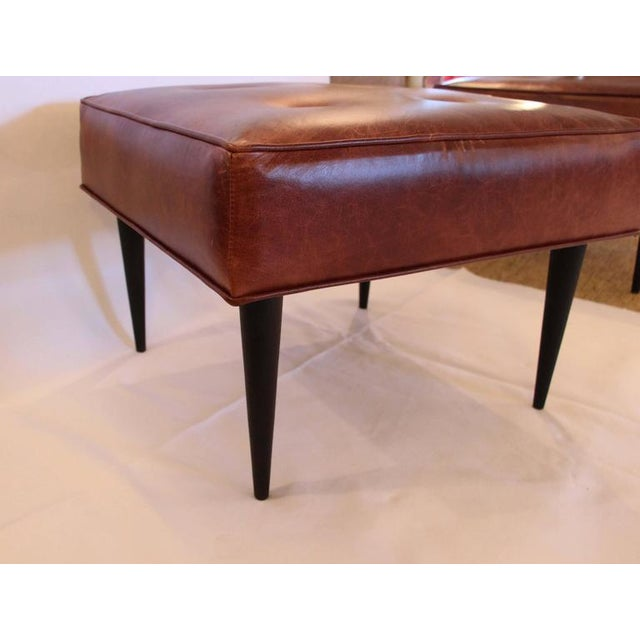 Image of Leather Benches in the Manner of Paul McCobb