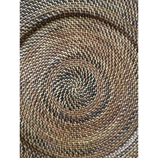 Woven Rattan Round Trays, A Pair - Image 4 of 4