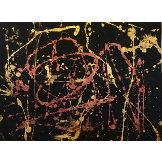 Original Abstract Gold & Copper Painting
