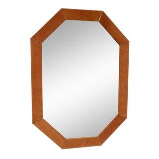 Karl Springer Suede Mirror