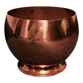 Mid-Century Modern Copper Globe Planter