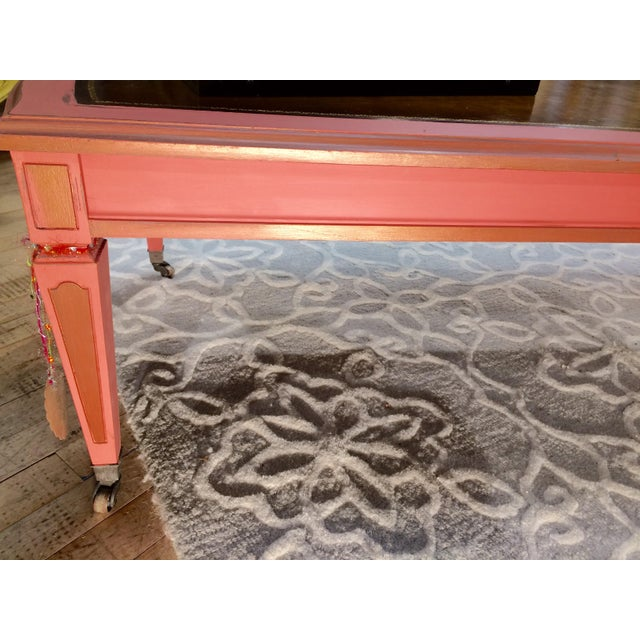 Leather Top Coffee Table - Image 8 of 8