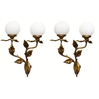 Vintage 1950's French Sconces - Pair