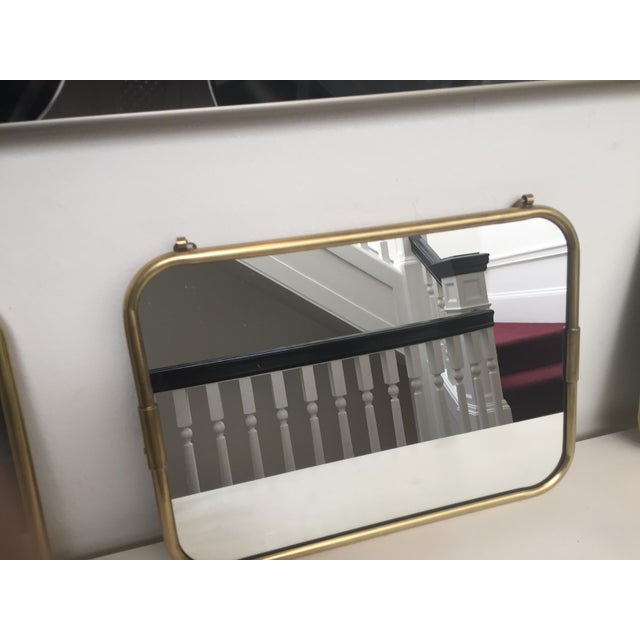Art Deco Brass Horizontal Mirror - Image 3 of 5