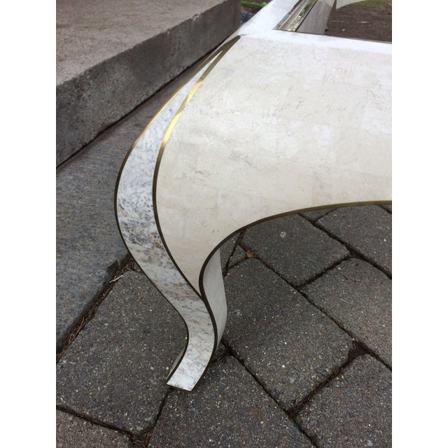 Maitland Smith Tessellated Stone Coffee Table - Image 7 of 8
