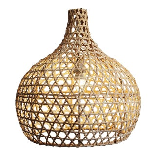 Raw Wicker Pumpkin Lantern