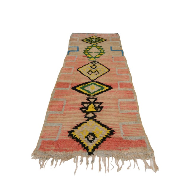 Vintage Moroccan Berber Tribal Design Runner - 3'8 x 8' - Image 3 of 7