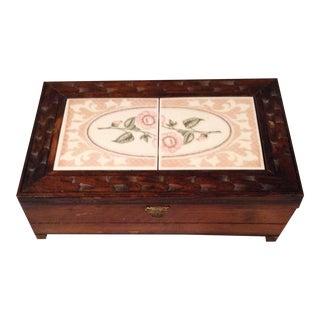 Wood and Tile Large Jewel Box