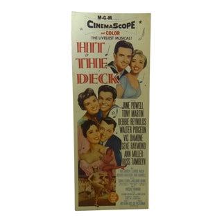 "Vintage ""Hit the Deck"" 1962 Movie Poster"