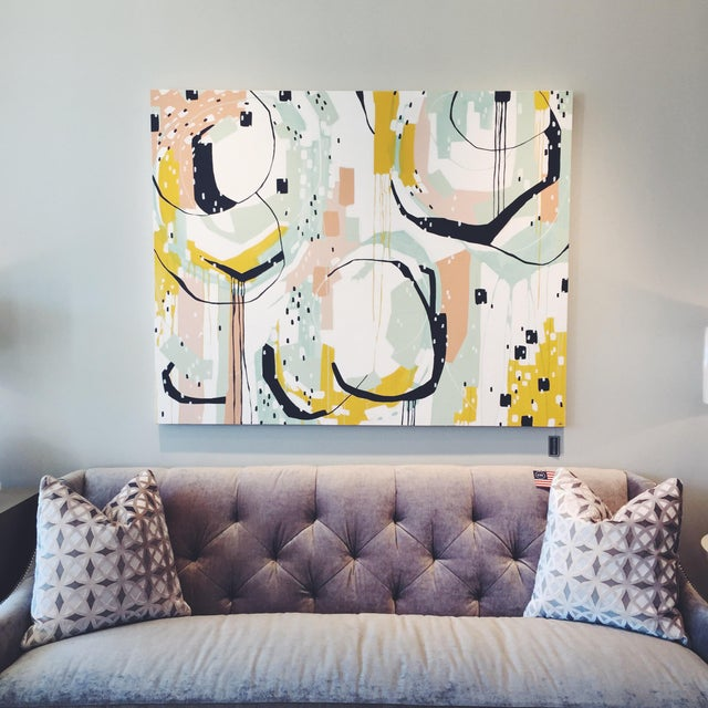 "Beth Winterburn Original Abstract - ""Sherbet Summer"" - Image 3 of 6"