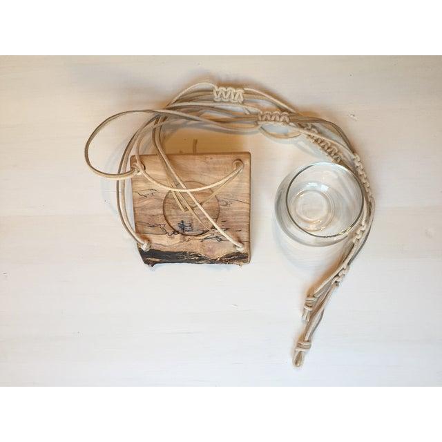 Image of Wooden Macrame Hanger