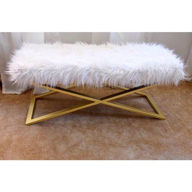 Modern Faux Fur Bench Chairish