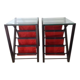 Magazine Rack End Tables - a Pair