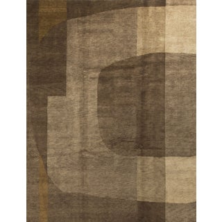 "Modern Contemporary Hand Knotted Wool Rug - 9'3"" x 12'"