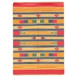 Image of Apadana -Striped Geometric 5 x 7 Striped Kilim Rug