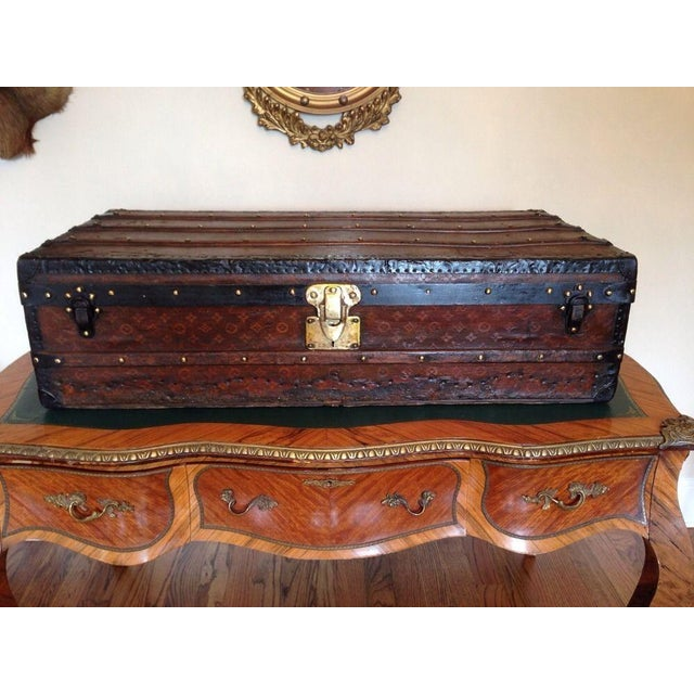 Vintage Louis Vuitton 3/4 Travel Steamer Trunk - Image 2 of 11