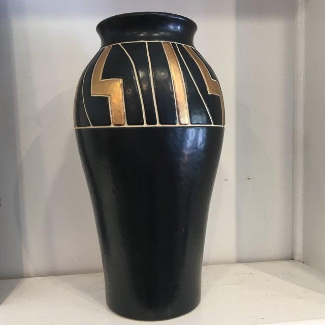 Vintage Black Ceramic Urn - Image 2 of 6