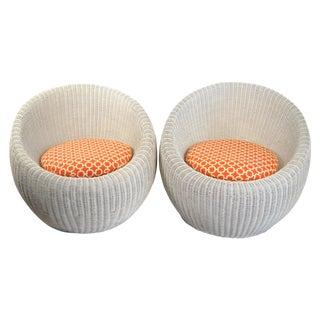 Isamu Kenmochi Rattan Chairs - Pair