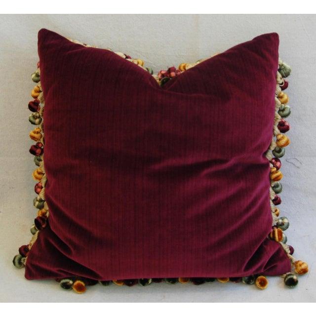 Custom Antique French Needlepoint & Velvet Pillow - Image 7 of 11