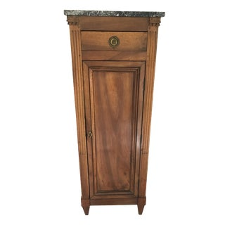 Marble Top Directoire Style Cabinet