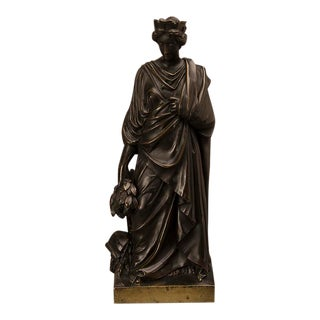A beautiful bronze sculpture of the Roman goddess Tyche cast in France circa 1865