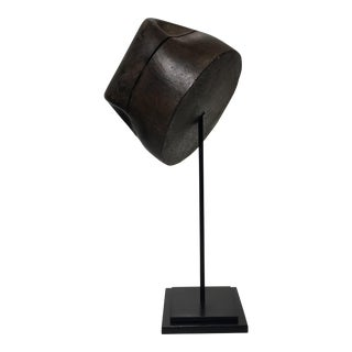 French Fedora Style Wooden Hat Mold