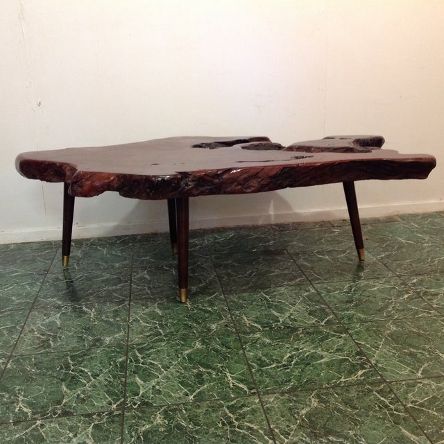 Vintage Redwood Burl Coffee Table