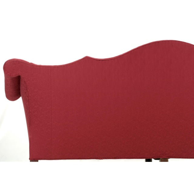 20th Century American Chippendale Style Mahogany Camel Back Sofa - Image 7 of 12