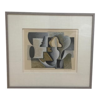 """Serge Charchoune """"Composition III"""" Abstract Lithograph"""