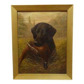 Labrador Dog Portrait Oil Painting