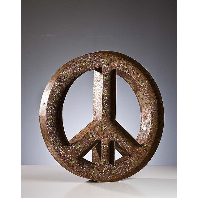 "24"" Vintage Marquee Peace Sign Light - Image 3 of 3"
