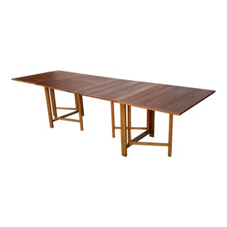 "Vintage Bruno Mattheson ""Maria"" Gateway Dining Table"
