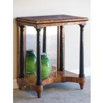 Image of Antique Austrian Biedermeier Period Walnut Console Table, Mirrored Back, circa 1825