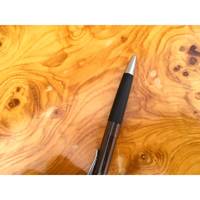 Burl Wood & Chrome Dining Table - Image 9 of 11