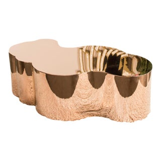 Luca Rose Gold Coffee Table