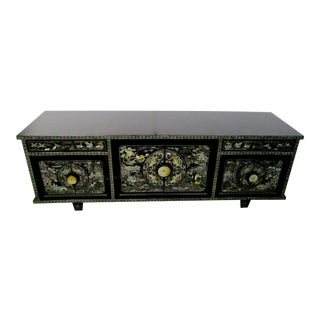 Black Lacquer & Mother-Of-Pearl Cabinet