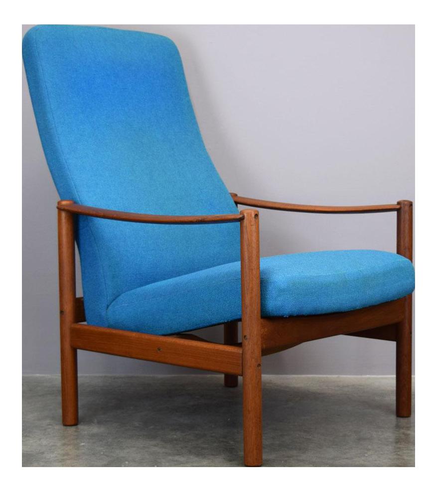 Westnofa Teak U0026 Wool Mid Century Recliner