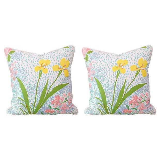 Brunschwig Paule Marrot Pillows - Pair - Image 1 of 2