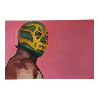 "Peter Geiszler's ""Lucha Libre"" Painting"
