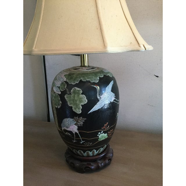Asian Porclain Ginger Jar Table Lamp Chairish