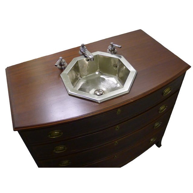 Custom Waterworks Federal Bow Front Chest Sink - Image 3 of 10