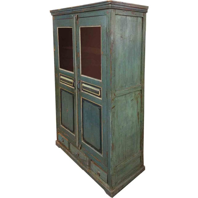 Image of Weathered Blue Wooden Pantry