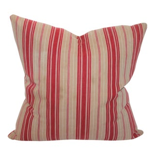 Red Striped Ticking Pillow