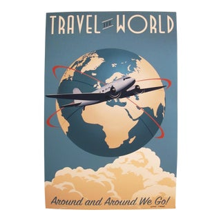 Travel the World, Artist Signed Contemporary Poster