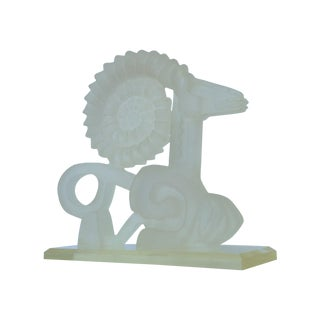 Ram Sculpture on Lucite Base