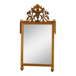 Italian Neoclassical Carved Gold Gilt Mirror