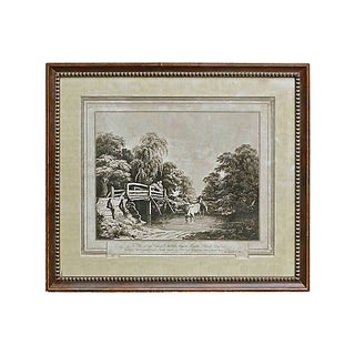 Antique 19th English Country Engraving